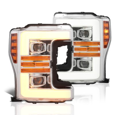 Ford F350 Super Duty 2017-2019 Projector Headlights Switchback LED DRL Dynamic Signal Lights