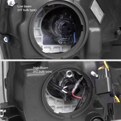 Ford F250 Super Duty 2017-2019 Black Projector Headlights Switchback LED DRL Dynamic Signal Lights