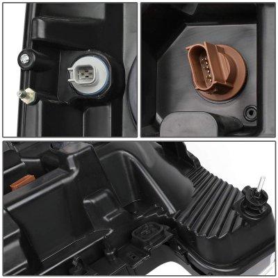 Ford F550 Super Duty 2017-2019 Black LED Tube DRL Projector Headlights