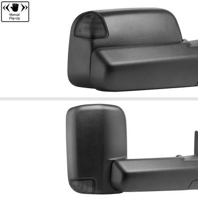 Dodge Ram 2500 2003-2009 New Power Heated Turn Signal Towing Mirrors Smoked Signal Lens