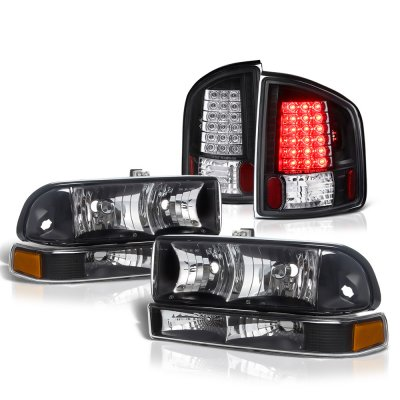 Chevy S10 1998-2004 Black Headlights and LED Tail Lights