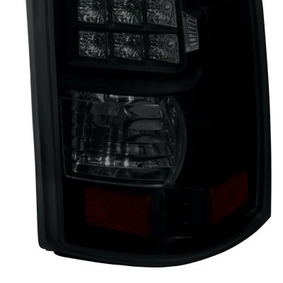 Chevy Silverado 1999-2002 Black Smoked LED Tail Lights
