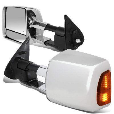 Toyota Tacoma 2005-2015 Chrome Towing Mirrors LED Lights Power Heated