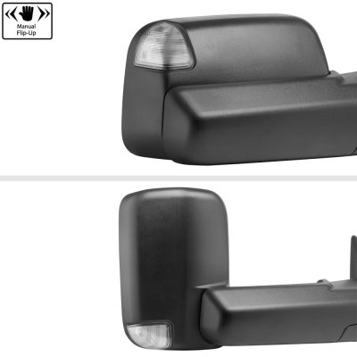 Dodge Ram 3500 2003-2009 New Power Heated Turn Signal Towing Mirrors Clear Signal Lens