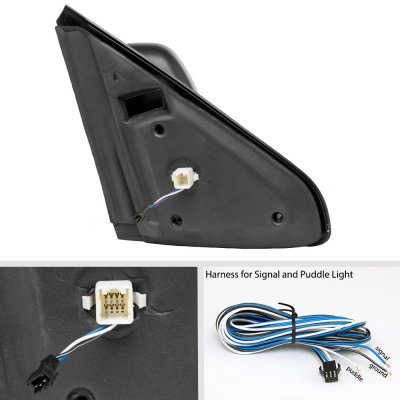 Dodge Ram 1500 2002-2008 New Power Heated Turn Signal Towing Mirrors Clear Signal Lens