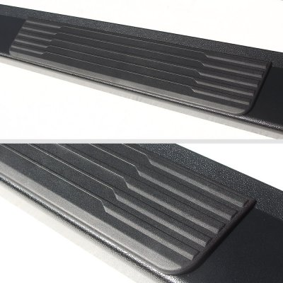 GMC Sierra 1500 Crew Cab 2007-2013 New Running Boards Black 6 Inches