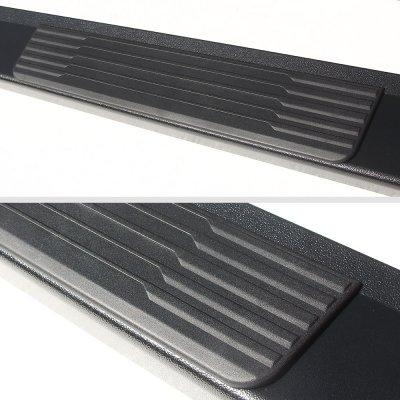GMC Sierra 3500HD Crew Cab 2015-2019 New Running Boards Black 6 Inches