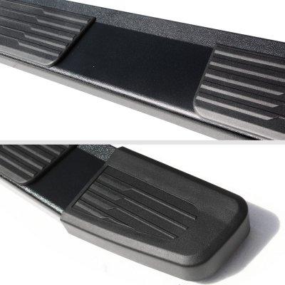 Chevy Silverado 1500HD Crew Cab 2001-2006 New Running Boards Black 6 Inches