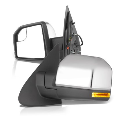 Ford F150 XL 2015-2020 Chrome Side Mirrors Power Heated LED Signal