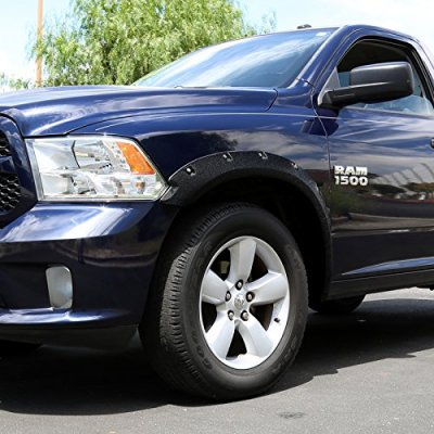 Dodge Ram 1500 2009-2018 Fender Flares Pocket Rivet Textured 5 Inch