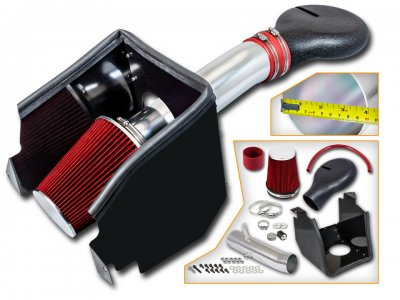 Dodge Ram 2500 V8 1994-2002 Cold Air Intake with Heat Shield and Red Filter