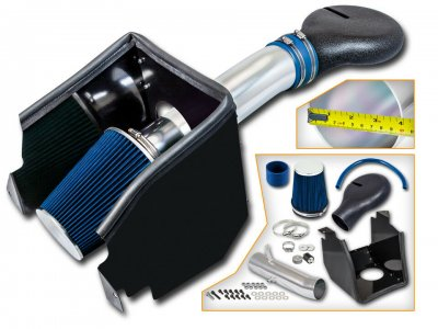 Dodge Ram V8 2500 1994-2002 Cold Air Intake with Heat Shield and Blue Filter
