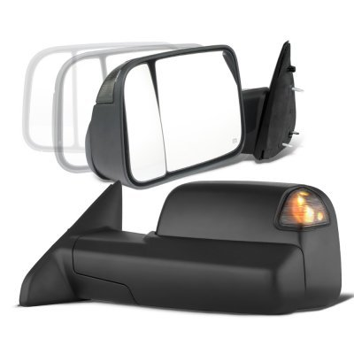 Dodge Ram 2500 2003-2009 Power Folding Towing Mirrors Conversion Smoked LED Signal