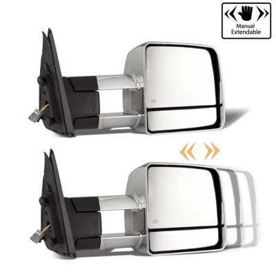 Toyota Tundra 2007-2019 Chrome Towing Mirrors Power Heated LED Signal Lights