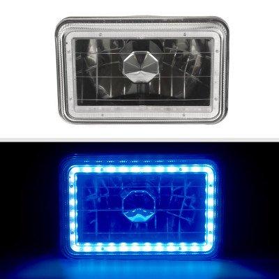 Buick Skyhawk 1975-1978 Blue LED Halo Black Sealed Beam Headlight Conversion Low and High Beams