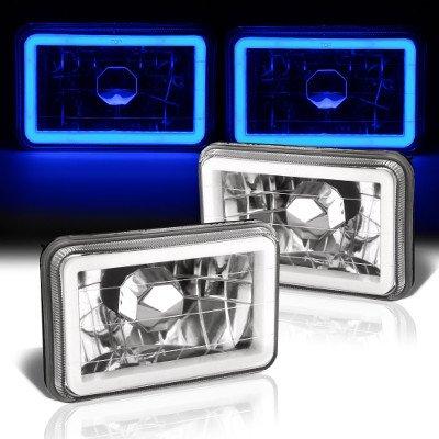 Chevy El Camino 1982-1987 Blue Halo Tube Sealed Beam Headlight Conversion