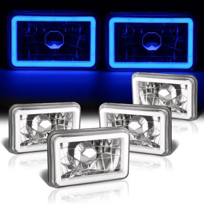 Chevy Suburban 1981-1988 Blue Halo Tube Sealed Beam Headlight Conversion Low and High Beams
