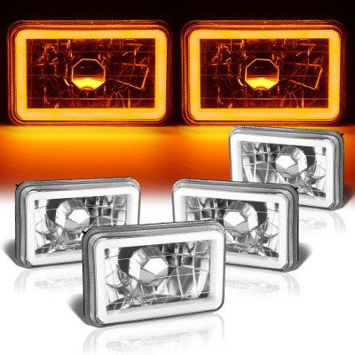 Chevy Caprice 1977-1986 Amber Halo Tube Sealed Beam Headlight Conversion Low and High Beams