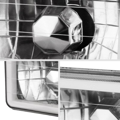 Isuzu Impulse 1984-1986 Amber Halo Tube Sealed Beam Headlight Conversion Low and High Beams