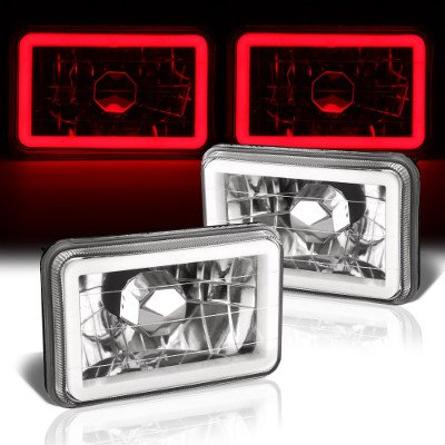 Chevy 1500 Pickup 1981-1987 Red Halo Tube Sealed Beam Headlight Conversion