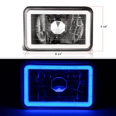 Chevy Blazer 1995-1997 Blue Halo Tube Black Sealed Beam Headlight Conversion
