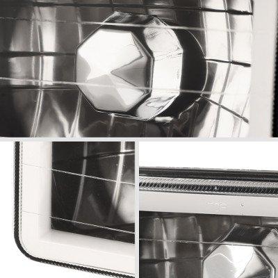 Chevy Blazer 1995-1997 Amber Halo Tube Black Sealed Beam Headlight Conversion