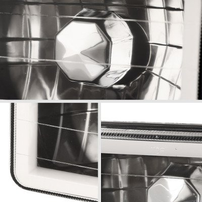 Chevy Celebrity 1982-1986 Amber Halo Tube Black Sealed Beam Headlight Conversion