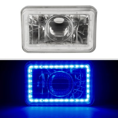 Chevy Celebrity 1982-1986 Blue LED Halo Sealed Beam Projector Headlight Conversion