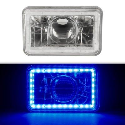 Chevy El Camino 1982-1987 Blue LED Halo Sealed Beam Projector Headlight Conversion