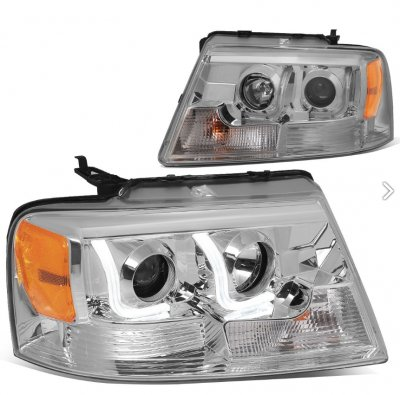 Ford F150 2004-2008 LED DRL Projector Headlights