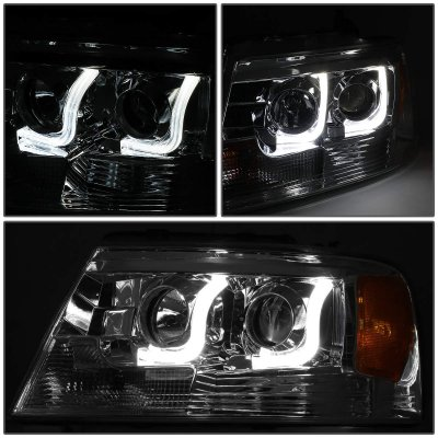 Ford F150 2004-2008 Smoked LED DRL Projector Headlights