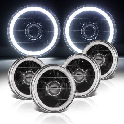 Buick Special 1961-1969 LED Halo Black Sealed Beam Projector Headlight Conversion