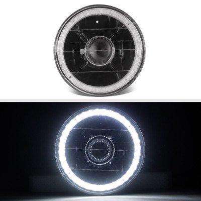 Chrysler New Yorker 1965-1981 LED Halo Black Sealed Beam Projector Headlight Conversion