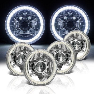 Chrysler New Yorker 1965-1981 LED Halo Sealed Beam Projector Headlight Conversion