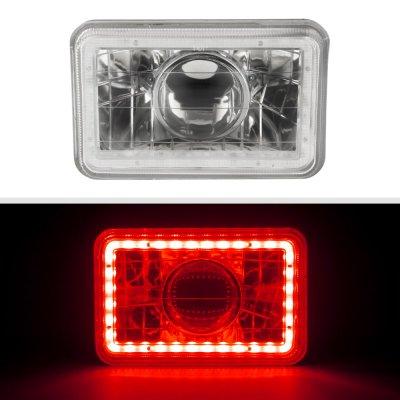 Cadillac Eldorado 1975-1985 Red LED Halo Sealed Beam Projector Headlight Conversion