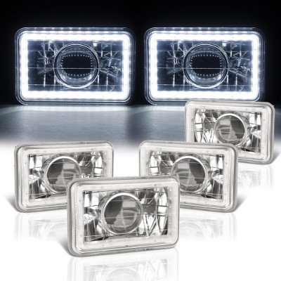 Pontiac LeMans 1976-1977 LED Halo Sealed Beam Projector Headlight Conversion Low and High Beams