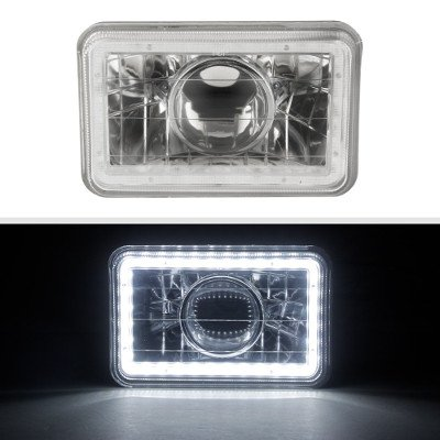Buick Skyhawk 1975-1978 LED Halo Sealed Beam Projector Headlight Conversion Low and High Beams