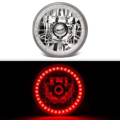 Pontiac LeMans 1964-1972 Red LED Halo Sealed Beam Headlight Conversion