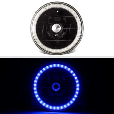 Buick Special 1961-1969 Blue LED Halo Black Sealed Beam Headlight Conversion