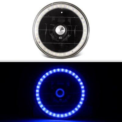 Chevy El Camino 1964-1970 Blue LED Halo Black Sealed Beam Headlight Conversion
