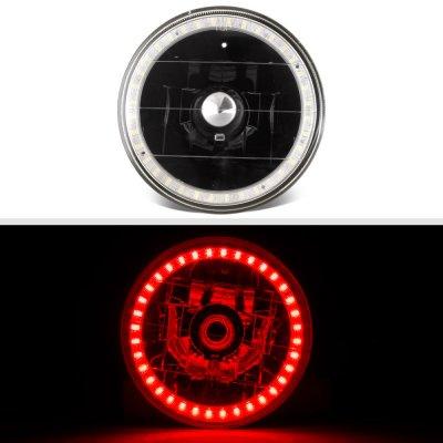 Chrysler New Yorker 1965-1981 Red LED Halo Black Sealed Beam Headlight Conversion