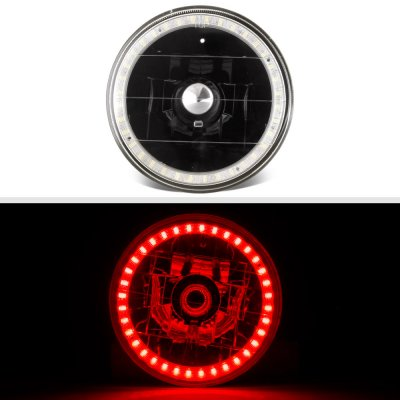 Plymouth Belvedere 1962-1970 Red LED Halo Black Sealed Beam Headlight Conversion