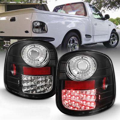 Ford F150 Flareside 1997-2003 LED Tail Lights Black