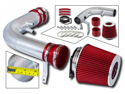 Ford F150 1997-2003 Polished Short Ram Intake with Red Air Filter
