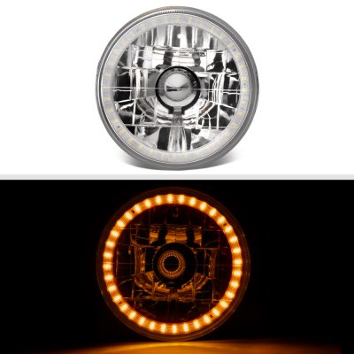 Plymouth Belvedere 1962-1970 Amber LED Halo Sealed Beam Headlight Conversion