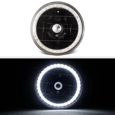 Cadillac Deville 1961-1972 LED Halo Black Sealed Beam Headlight Conversion