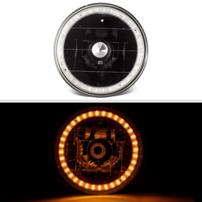 Buick Special 1961-1969 Amber LED Halo Black Sealed Beam Headlight Conversion