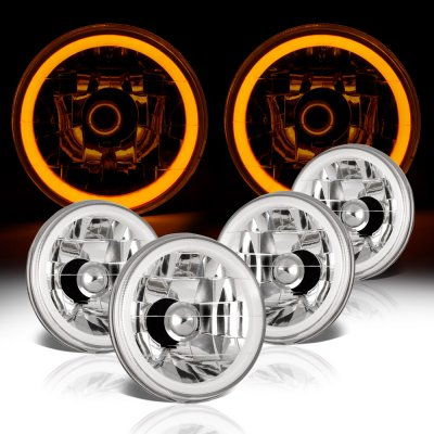 Buick Special 1961-1969 Amber Halo Tube Sealed Beam Headlight Conversion