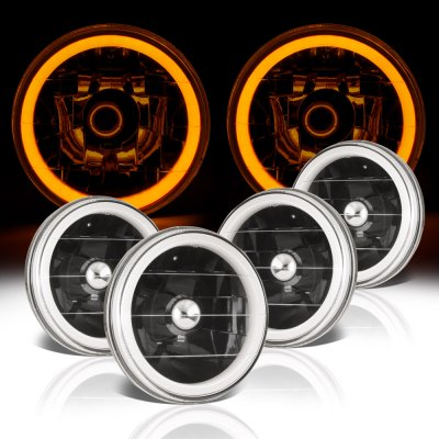 Mercury Montego 1968-1976 Amber Halo Tube Black Sealed Beam Headlight Conversion