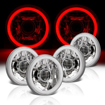 Buick Special 1961-1969 Red Halo Tube Sealed Beam Projector Headlight Conversion